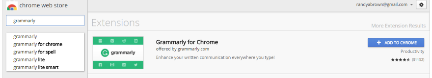 Installing the Grammarly Chrome Extension 3