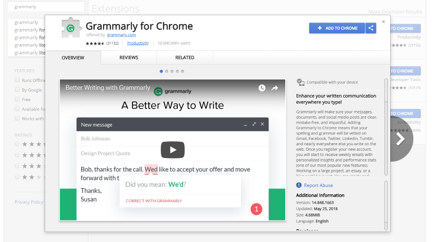 Grammarly: A Detailed Overview and Review Chrome Extension