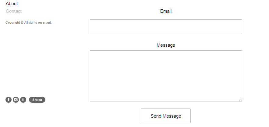 An example of a simple contact form.