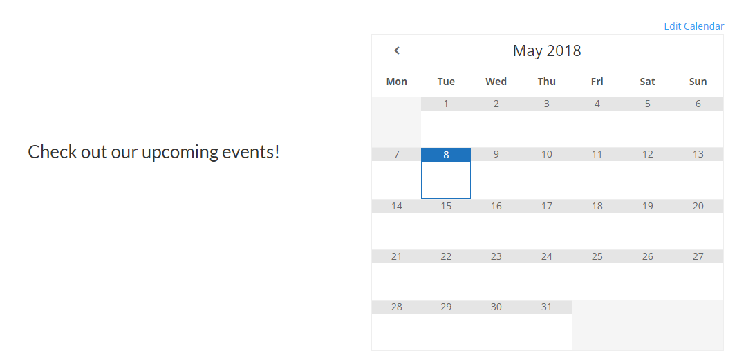 A Google Calendar in action.