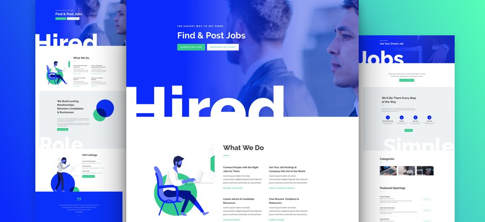 Get a FREE & Astonishing Job Recruiter Layout Pack for Divi