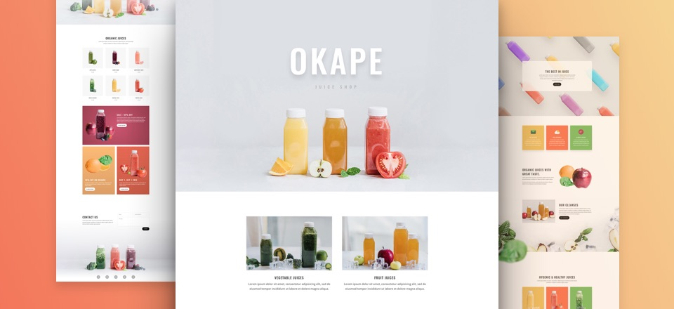 Get a FREE & Fresh Juice Shop Layout Pack for Divi