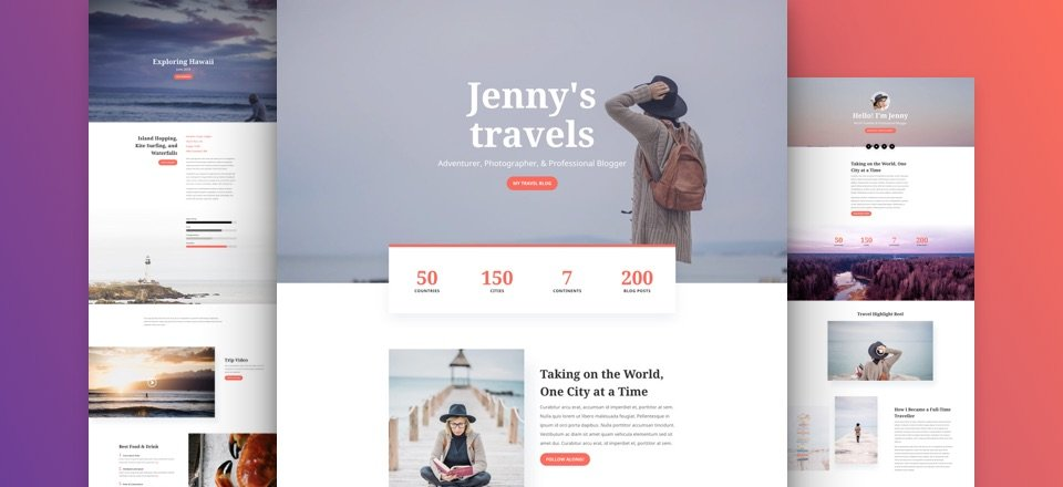 Get a FREE & Adventurous Travel Blog Layout Pack for Divi