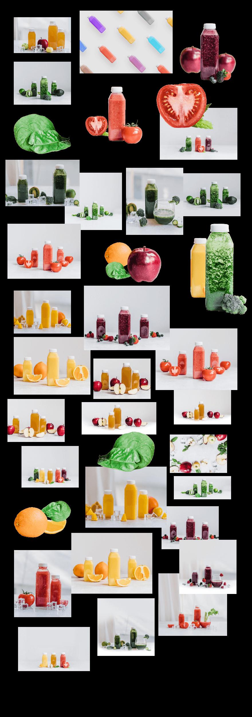 juice shop collage