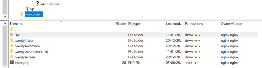 Moving your theme's folder.