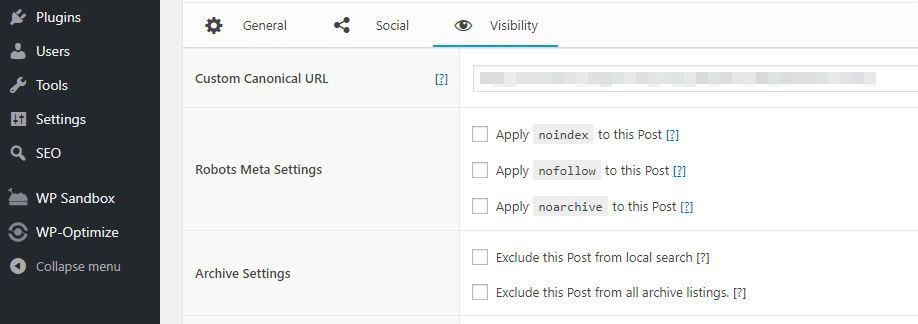 Your post's robots.txt settings.