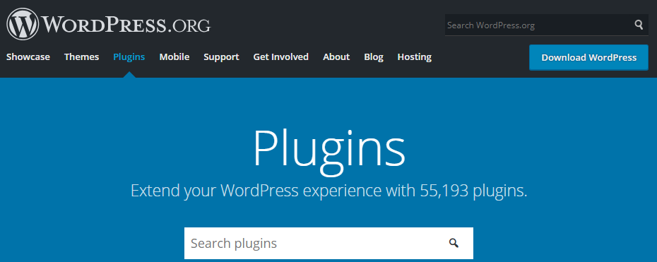 The WordPress.org plugin repository.