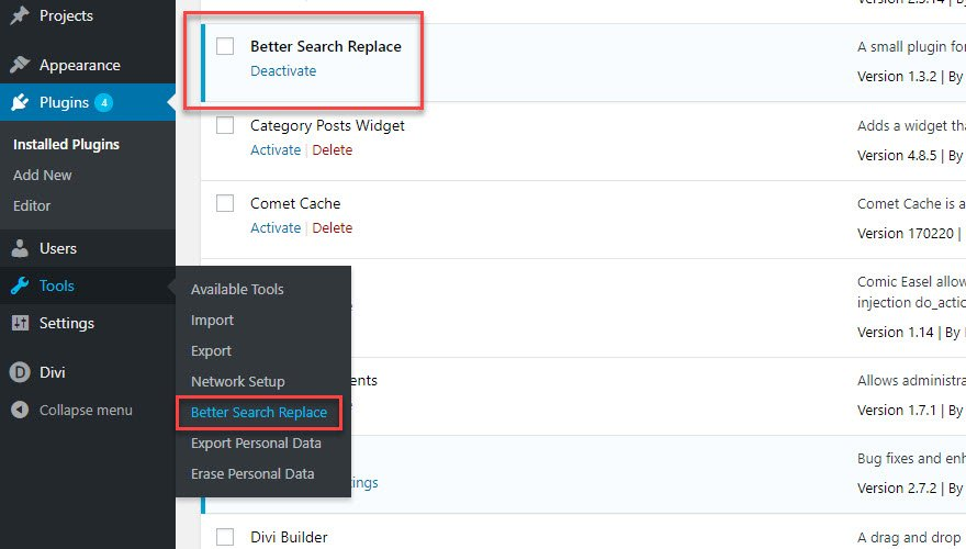 Better Search and Replace Plugin for WordPress Database
