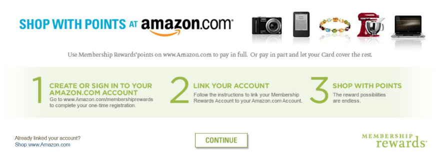 An example of a rewards points system.