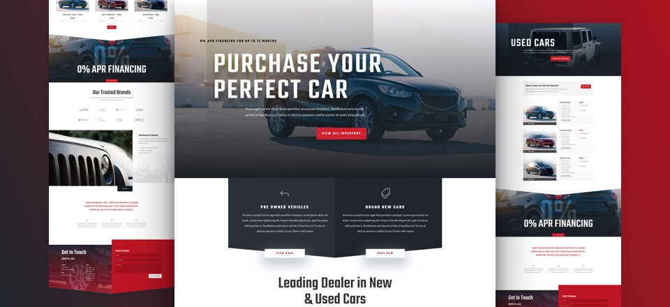 Get a FREE Car Dealer Layout Pack for Divi