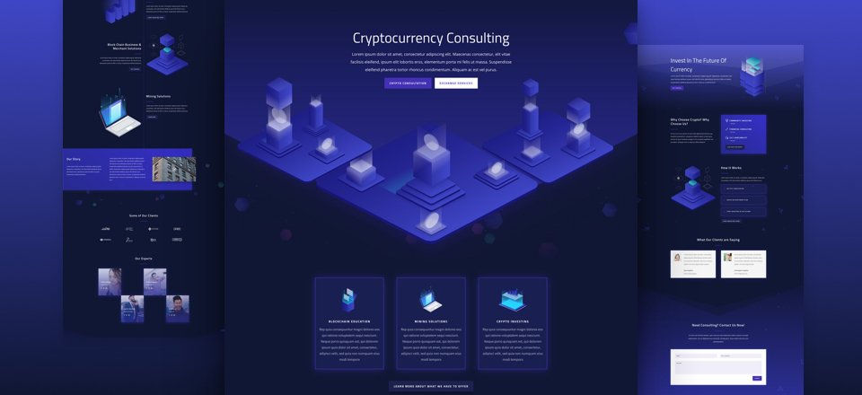 Get a FREE Cryptocurrency Layout Pack for Divi