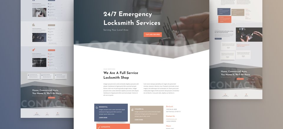 Get a FREE Locksmith Layout Pack for Divi