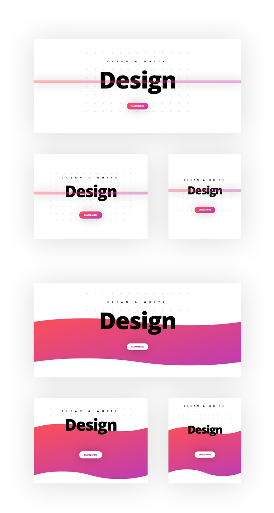 clean and abstract design