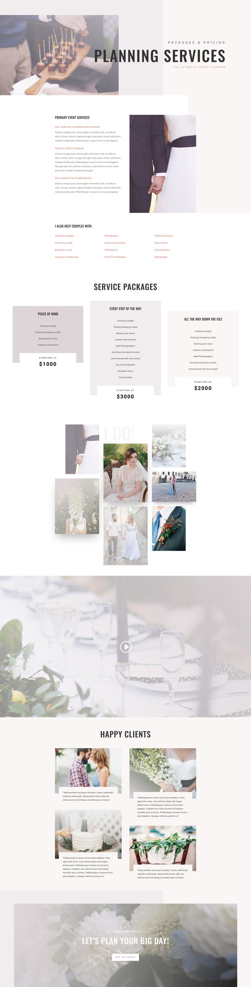 get a free wedding planner layout pack for divi elegant themes blog