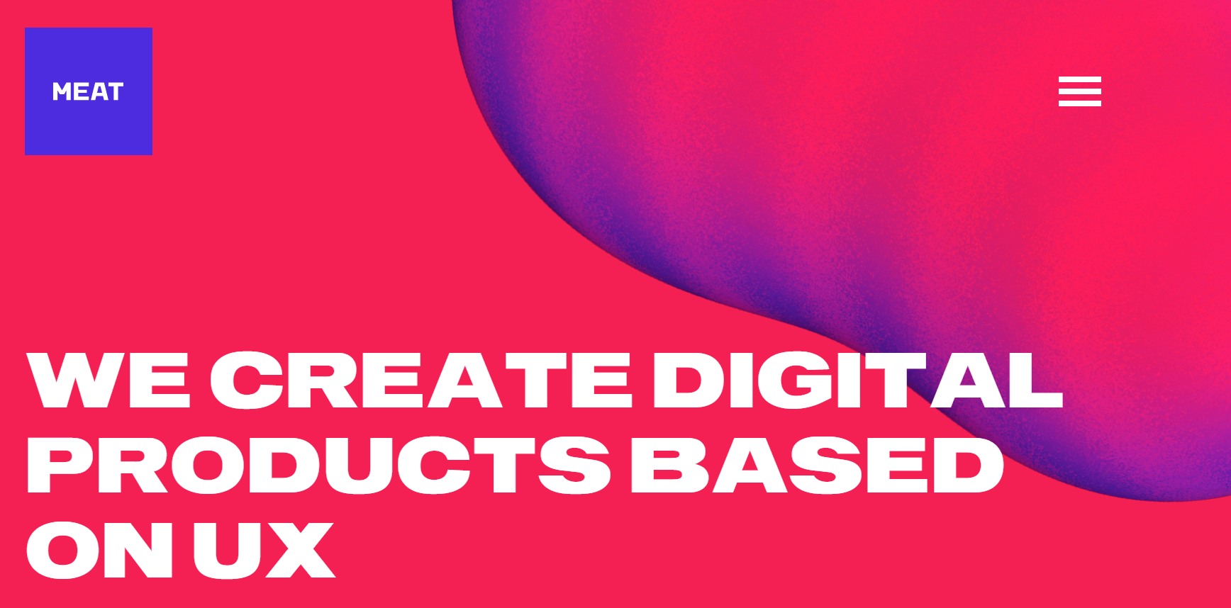 A website with a bold color gradient.