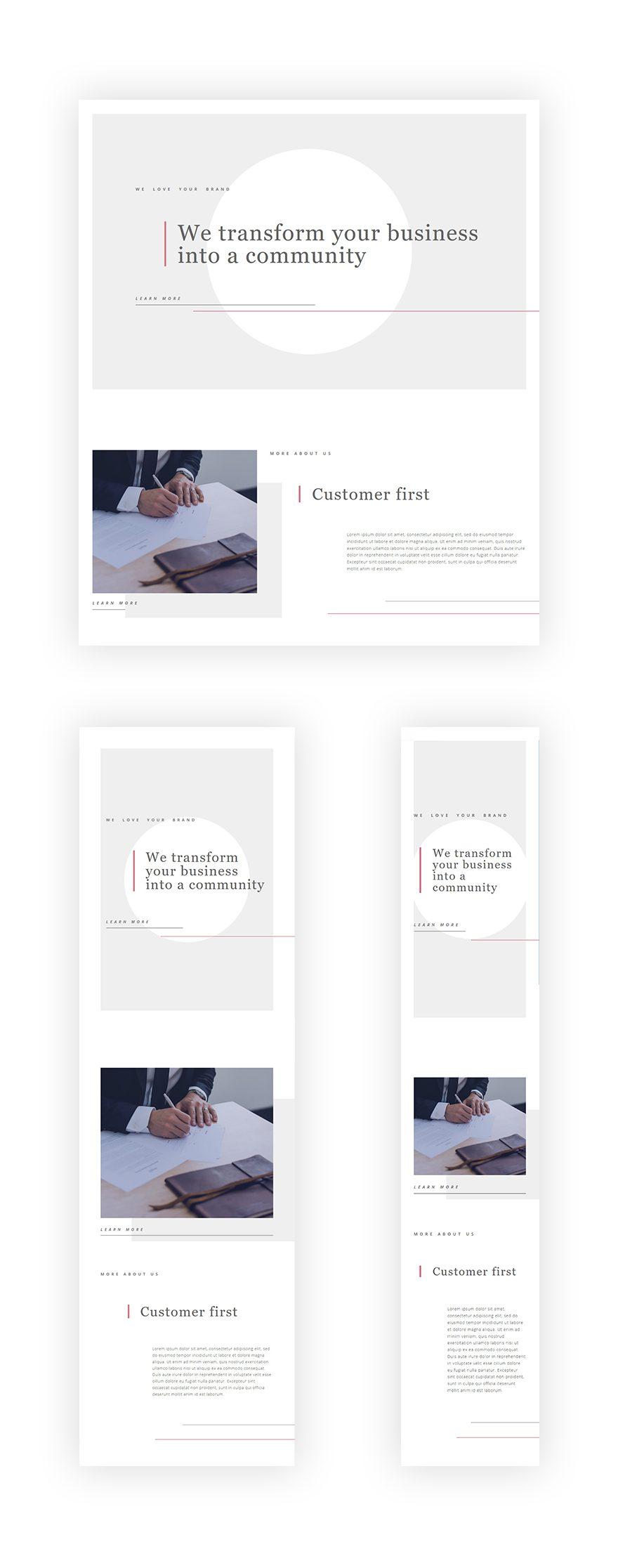 minimal websites