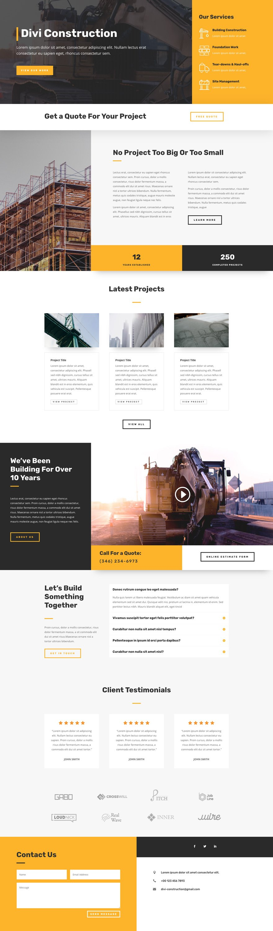 Construction Company Layout pack