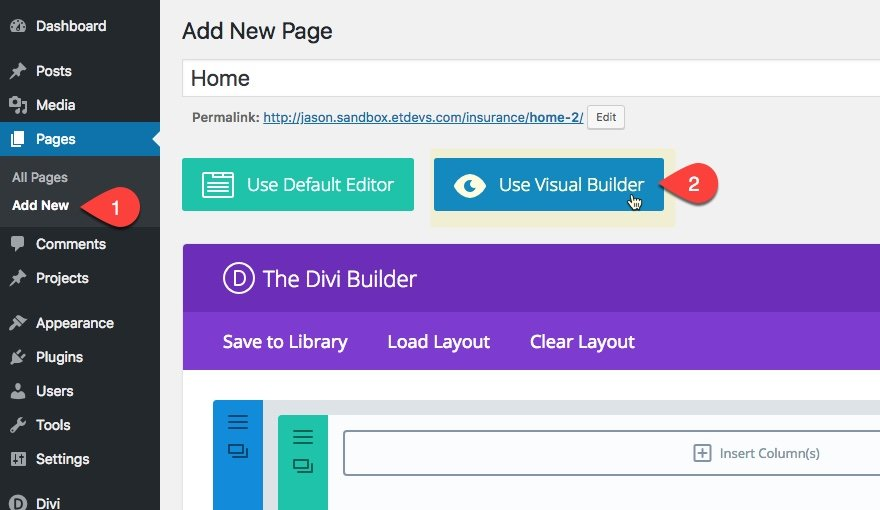 Using Premade Layouts In Divi