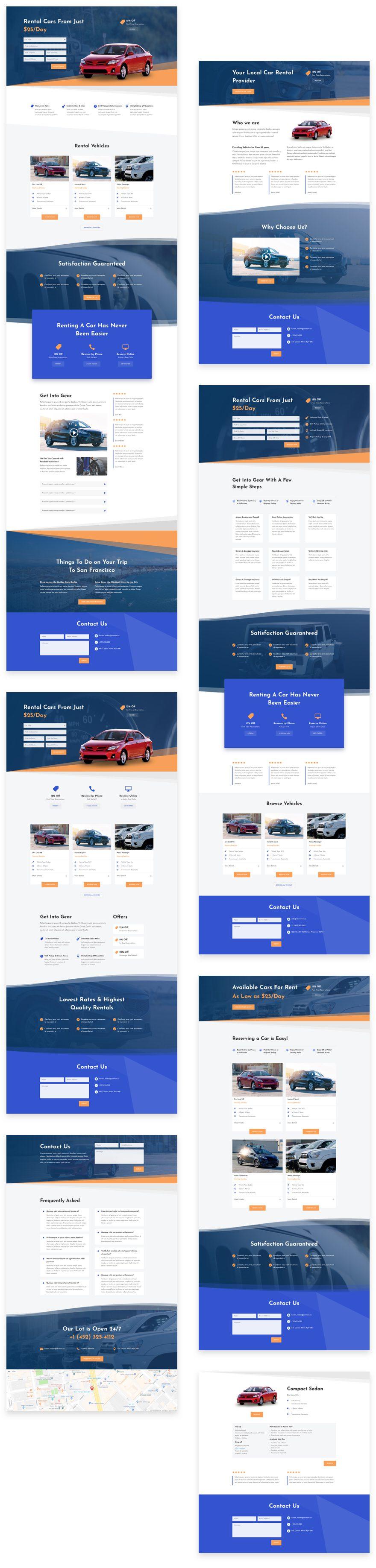 Get A Free Car Rental Layout Pack For Divi Elegant Themes Blog
