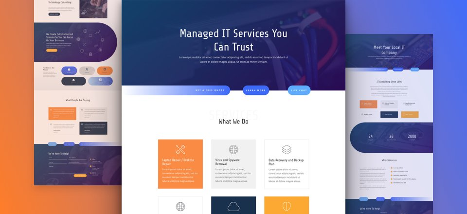 Get a FREE IT Services Layout Pack for Divi