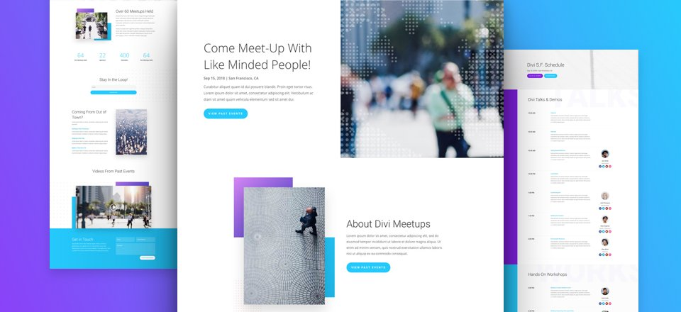 Get a FREE Meetup Layout Pack for Divi