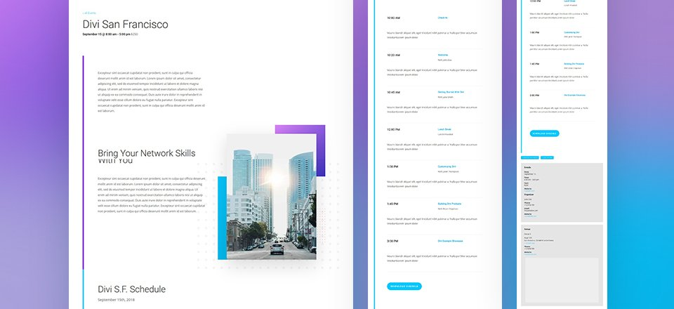 Creating Stunning Event Custom Post Type Templates with Divi ...