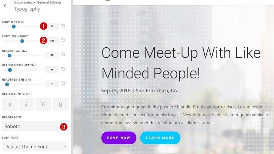 event custom post type