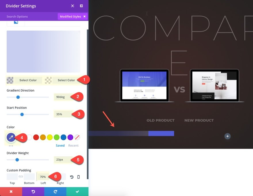 how to create a chart divi