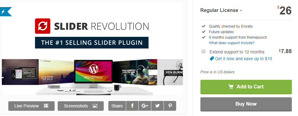 The Slider Revolution plugin.