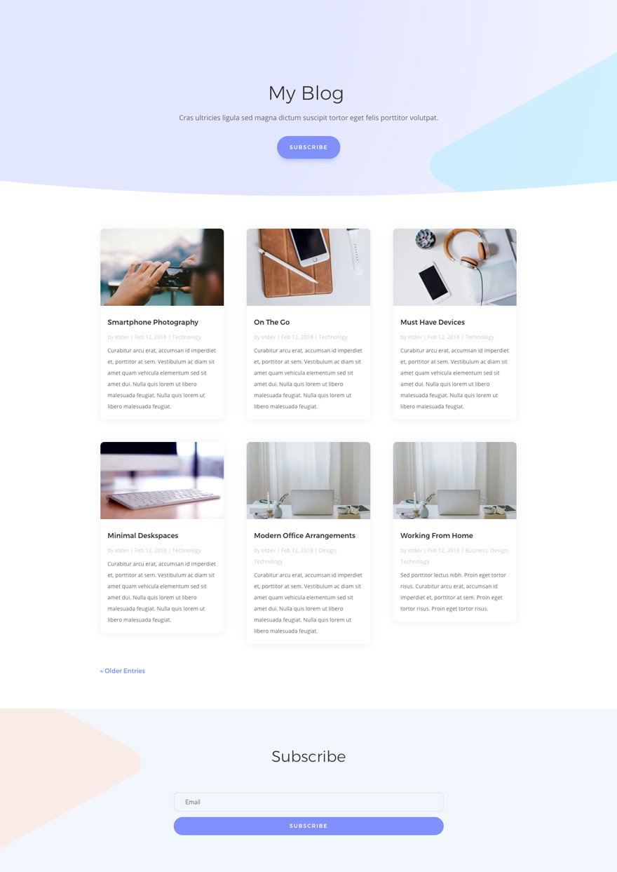 therapist divi layout