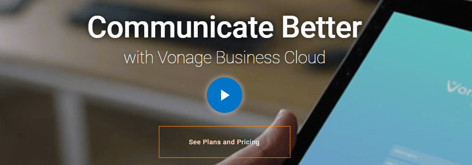 The Vonage homepage.