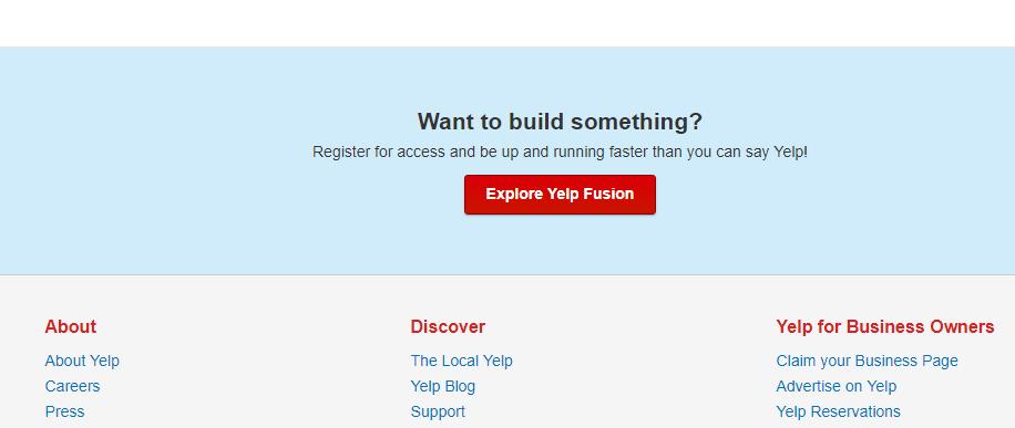 Exploring Yelp Fusion.