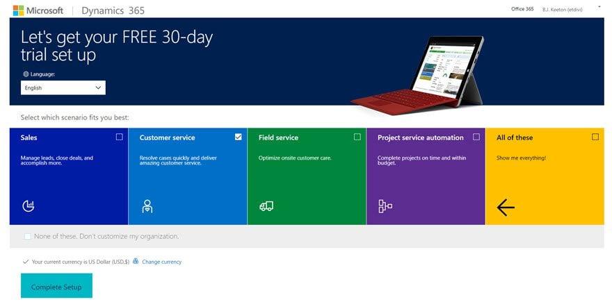 Microsoft Dynamics 365 CRM