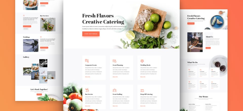 Get a FREE Food Catering Layout Pack for Divi
