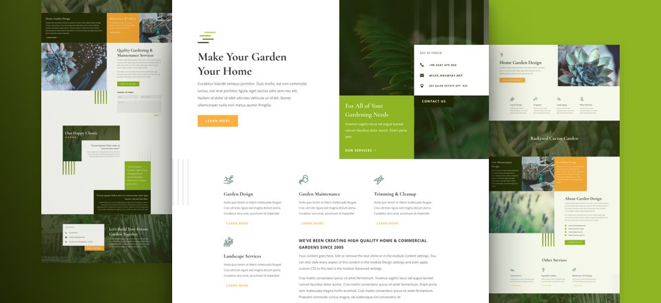 Get a FREE Gardener Layout Pack for Divi