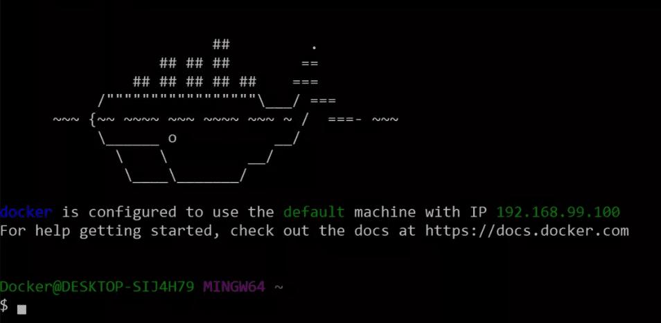 The Docker command line.