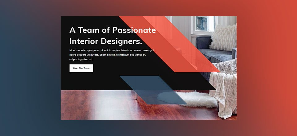 How to Create a Sleek Header Design with Parallelograms in Divi