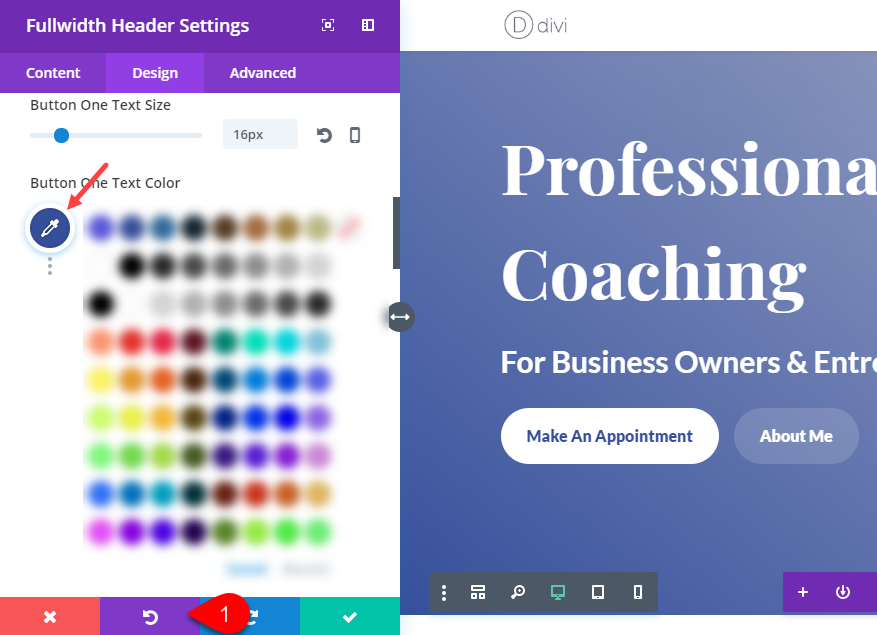 Divi Color Scheme