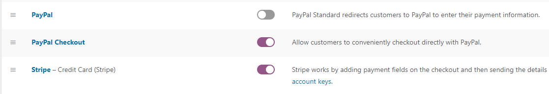 Configuring your WooCommerce payment settings.