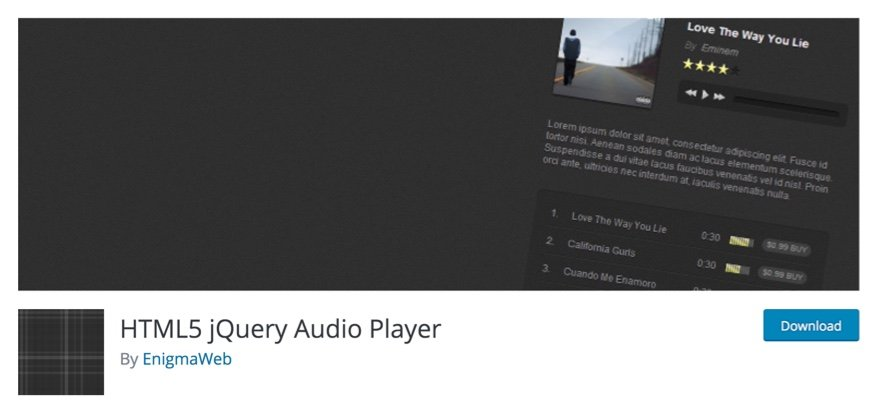 WordPress audio player plugin