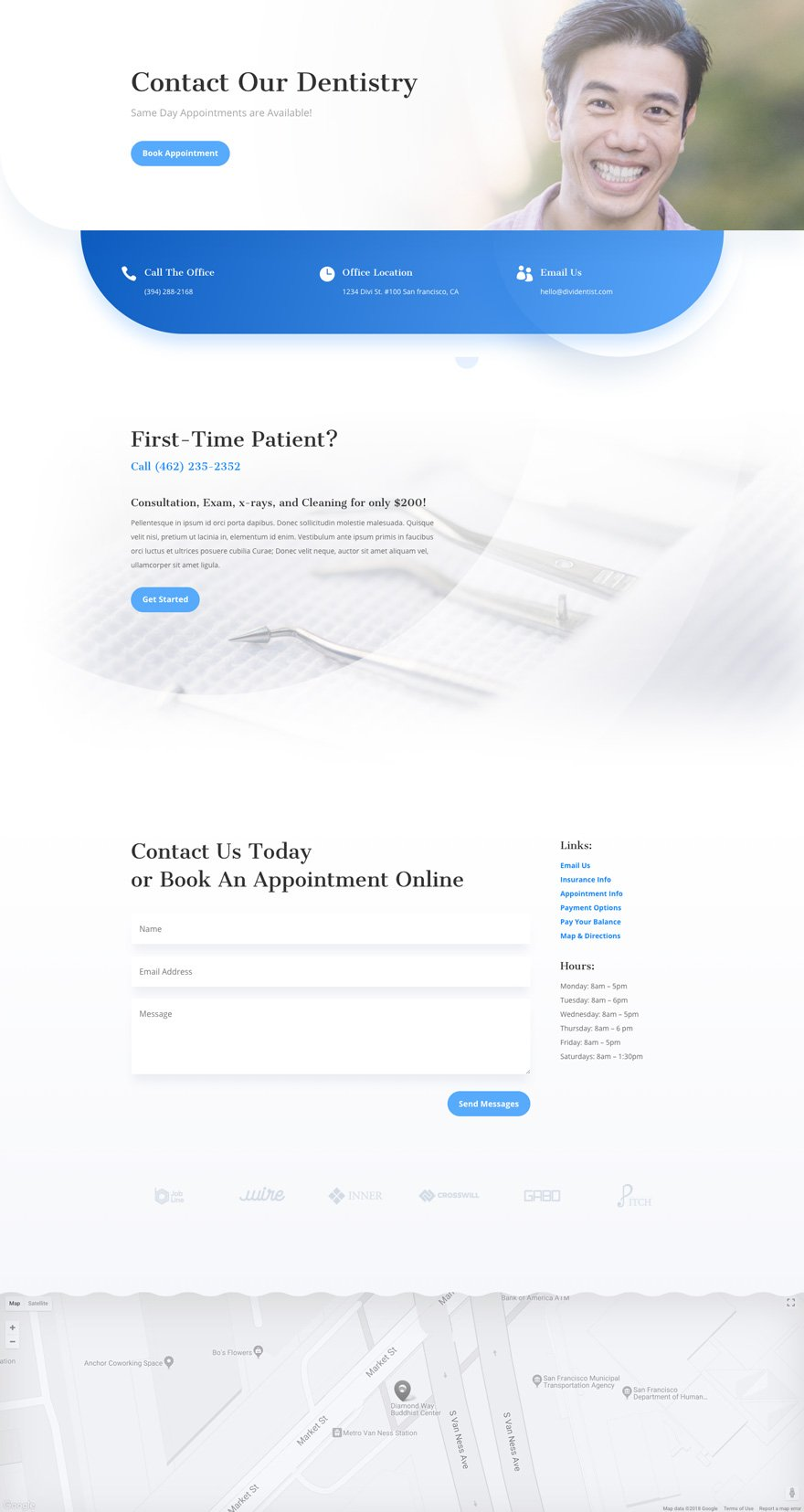 divi dentist layout pack