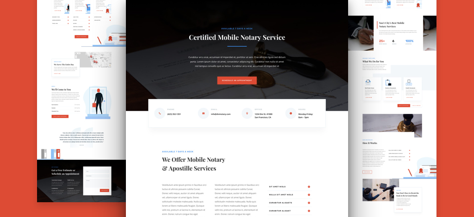 Get a FREE Notary Public Layout Pack for Divi