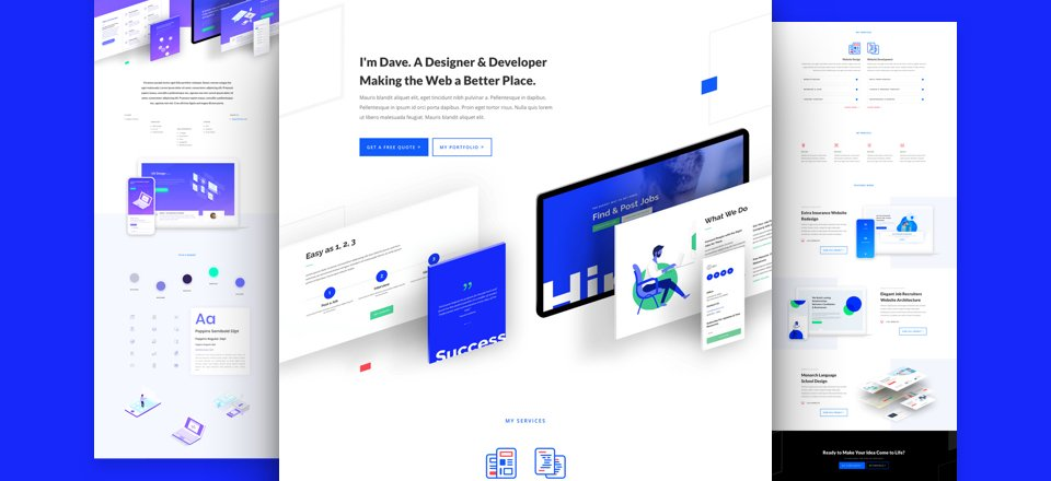 Get a FREE Web Freelancer Layout Pack for Divi