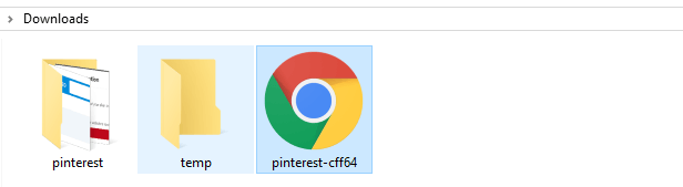 An example of the HTML file you need to download from Pinterest.