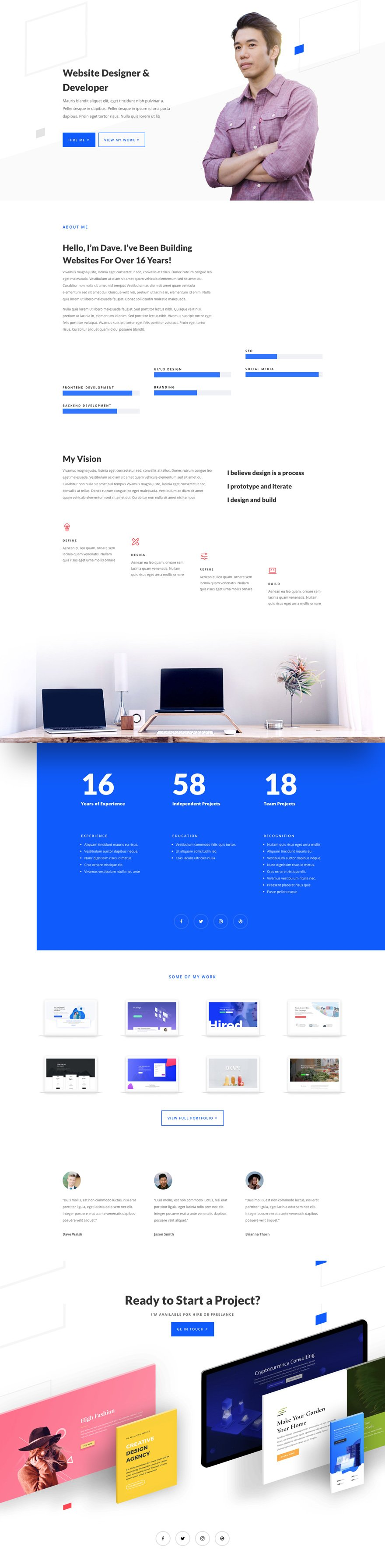divi web freelancer layout pack