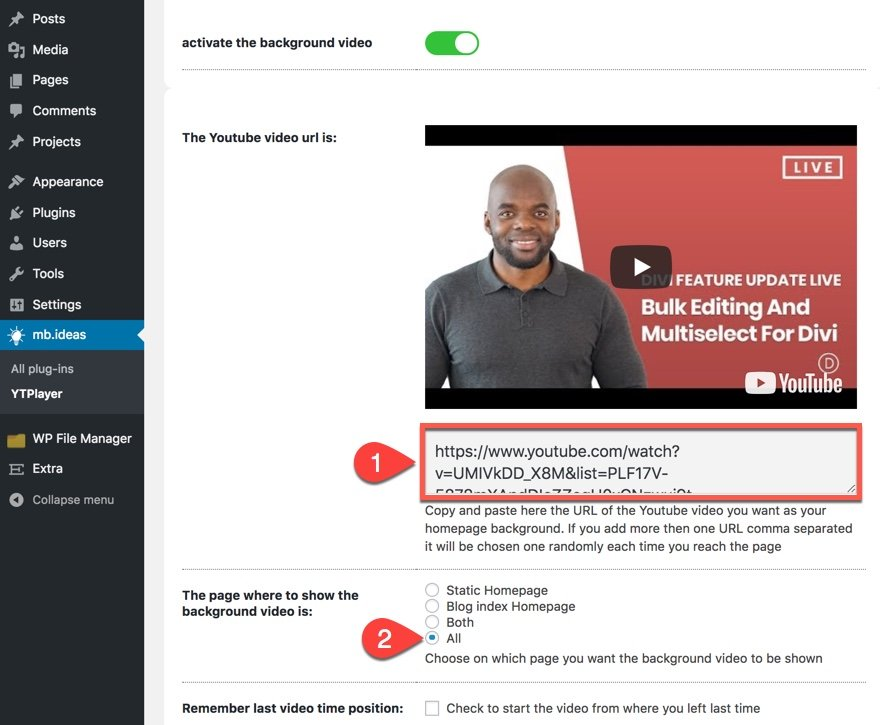 How to Add a YouTube Video Background to a WordPress Site