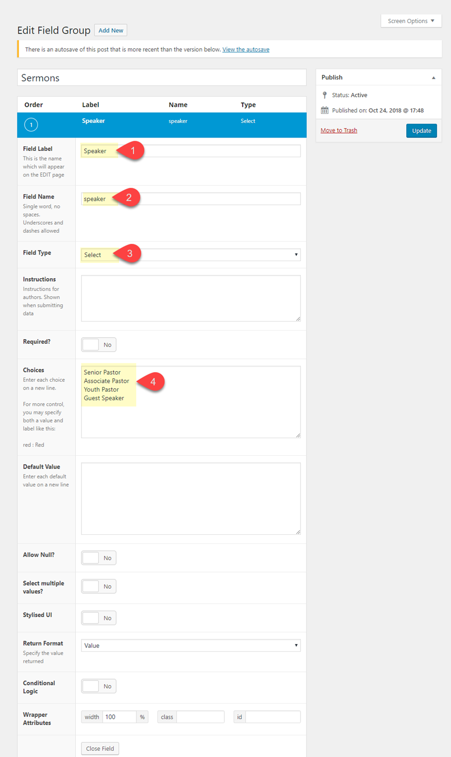 How to Build a Sermon Layout using Custom Fields and Dynamic Content