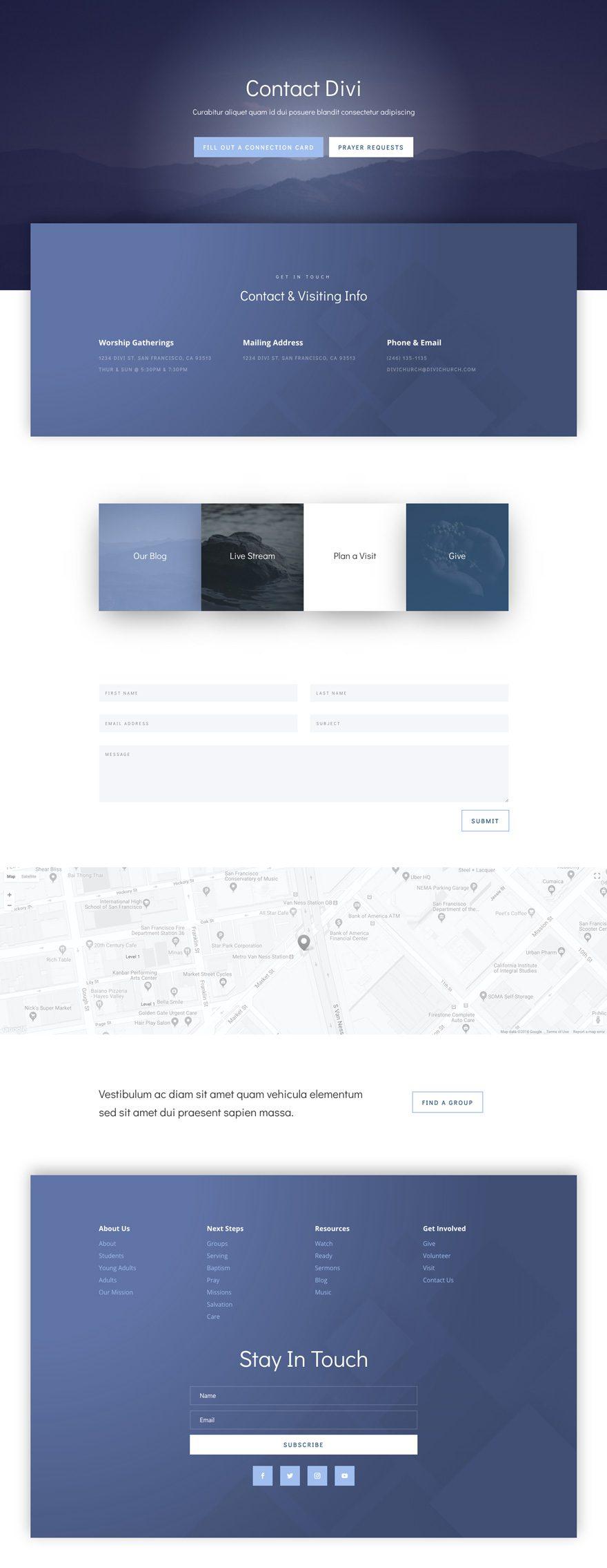 divi church layout pack