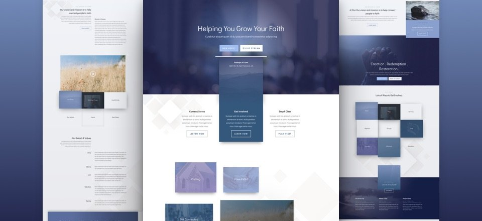 Get a FREE Church Layout Pack for Divi
