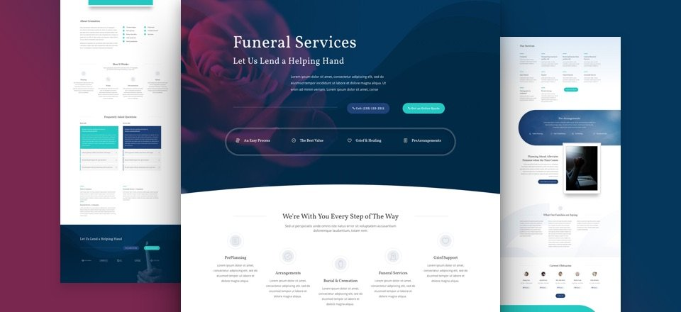 Get a FREE Funeral Home Layout Pack for Divi